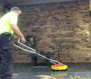 Pressure Washing Of The Montrose Post Office